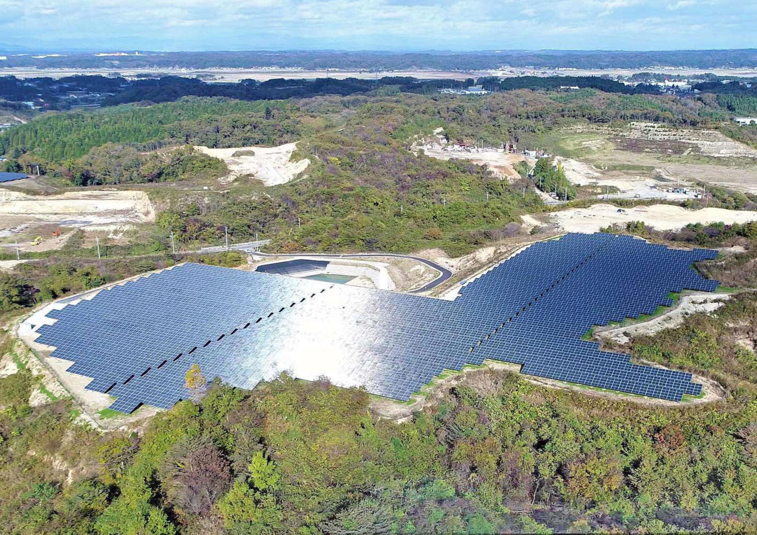 宮城県黒川郡 太陽光発電設備設置工事